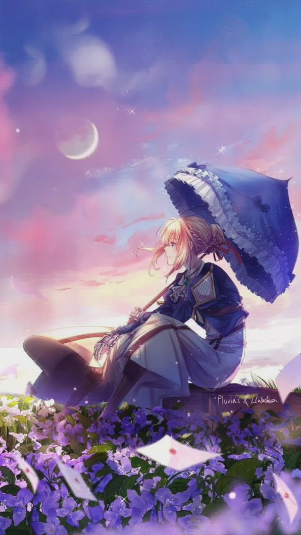 Violet Evergarden Waiting Someone Cool Live Wallpaper Video Anime Live Wallpapers Anime Flower Violet Evergarden Wallpaper Anime wallpaper video android