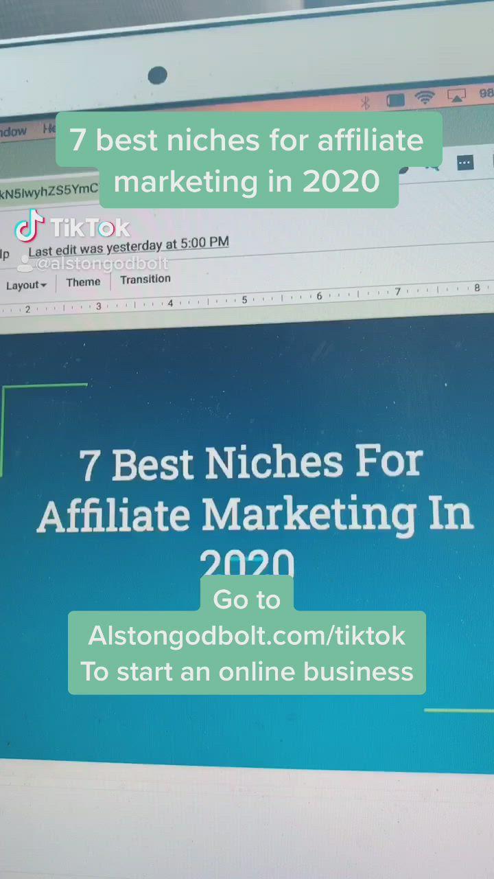 7 Niches For Affiliate Marketing Video Affiliate Marketing Business Motivation Small Business Marketing