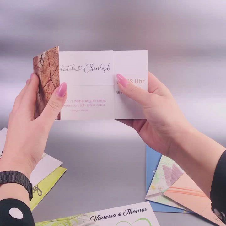 Gestalte Und Bestelle Deine Individuelle Hochzeitseinladung Und Erhalte 20 Rabatt Mit Dem Rabattcode Hochzeit20 Video In 2020 Karte Hochzeit Hochzeitseinladung Karten