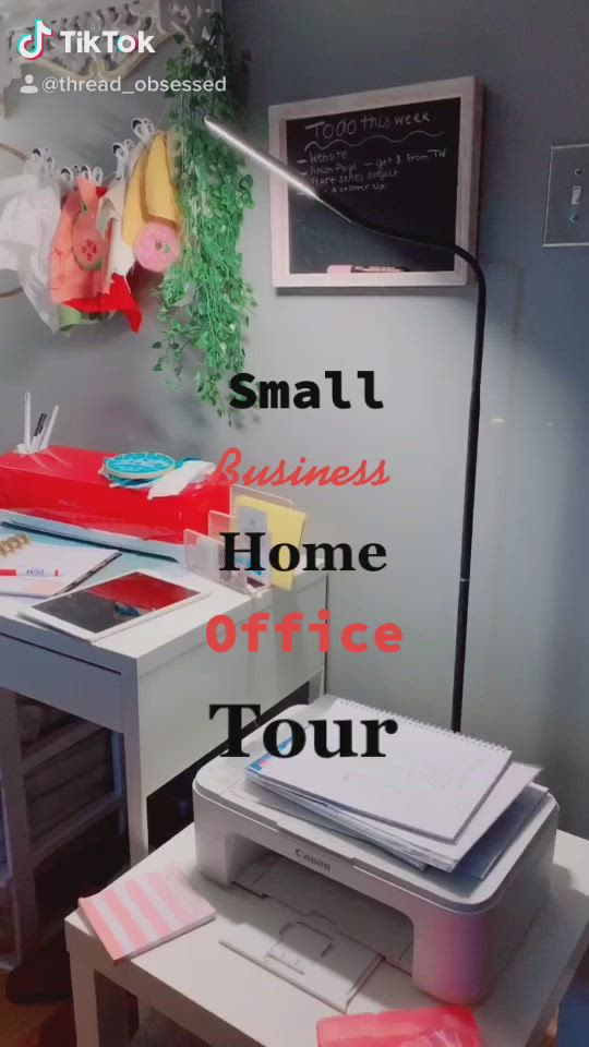 Home Office Tour Small Business Video Business Office Supplies Home Office Small Business Office