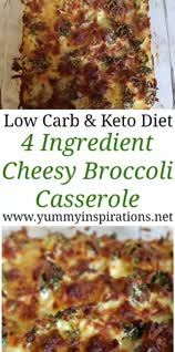 Vegetarian Gluten free · Serves 4 · Keto Broccoli Casserole Recipe – Easy low carb broccoli bake recipes – great idea for a quick meat free dinner or a Ketogenic Diet friendly side dish. Loaded with cheese and only 4 ingredients.