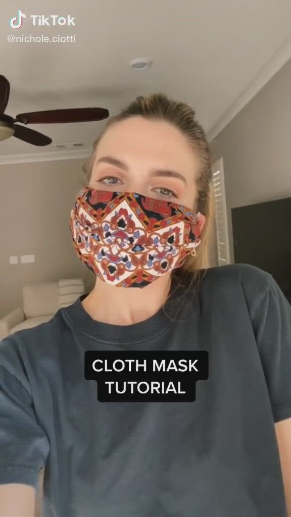 Easy How To Make Your Own Face Mask Fashion Ootd Tiktok Video Diy Face Mask Funny Face Mask Diy Face