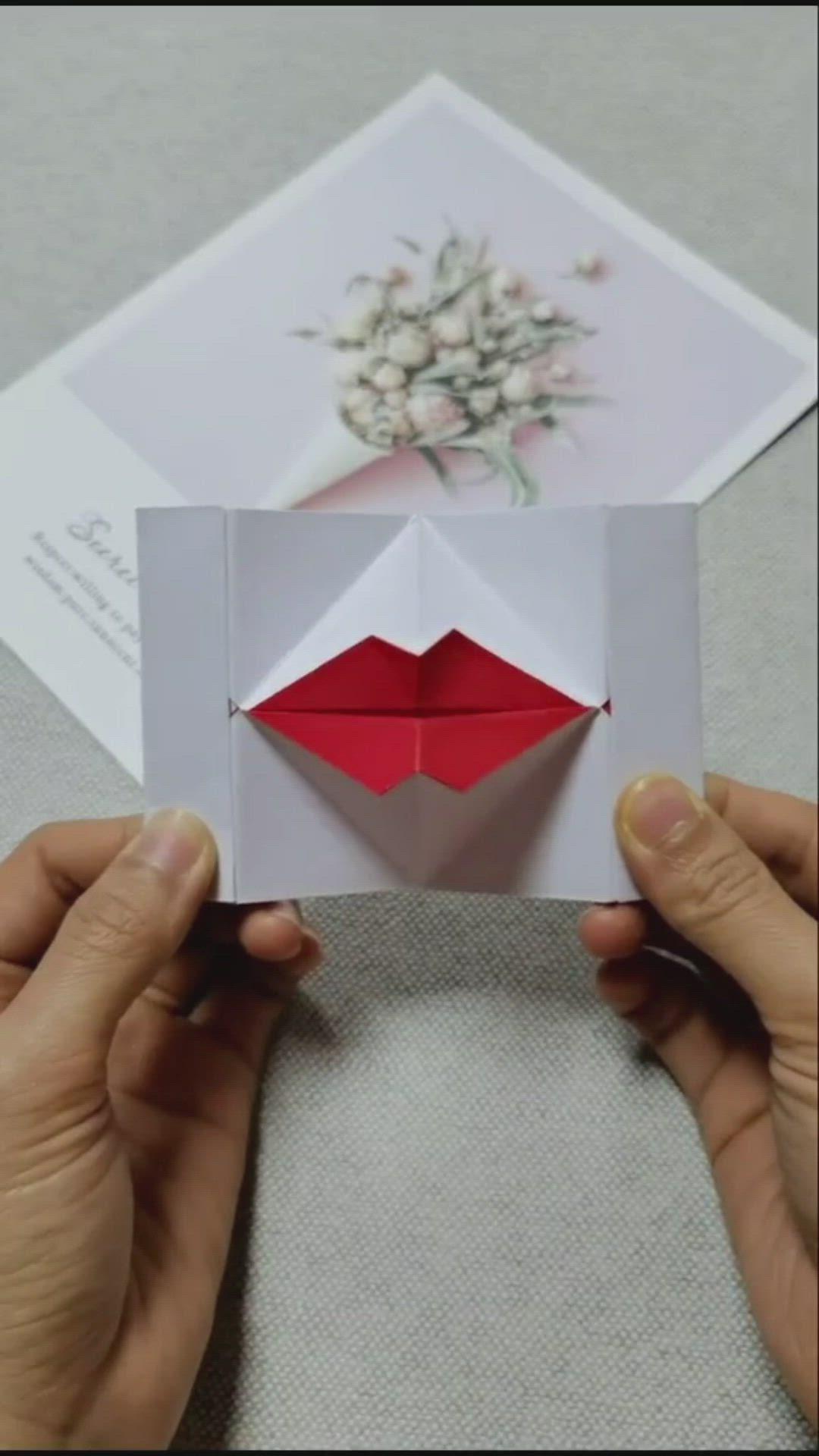 Оригами вечная открытка