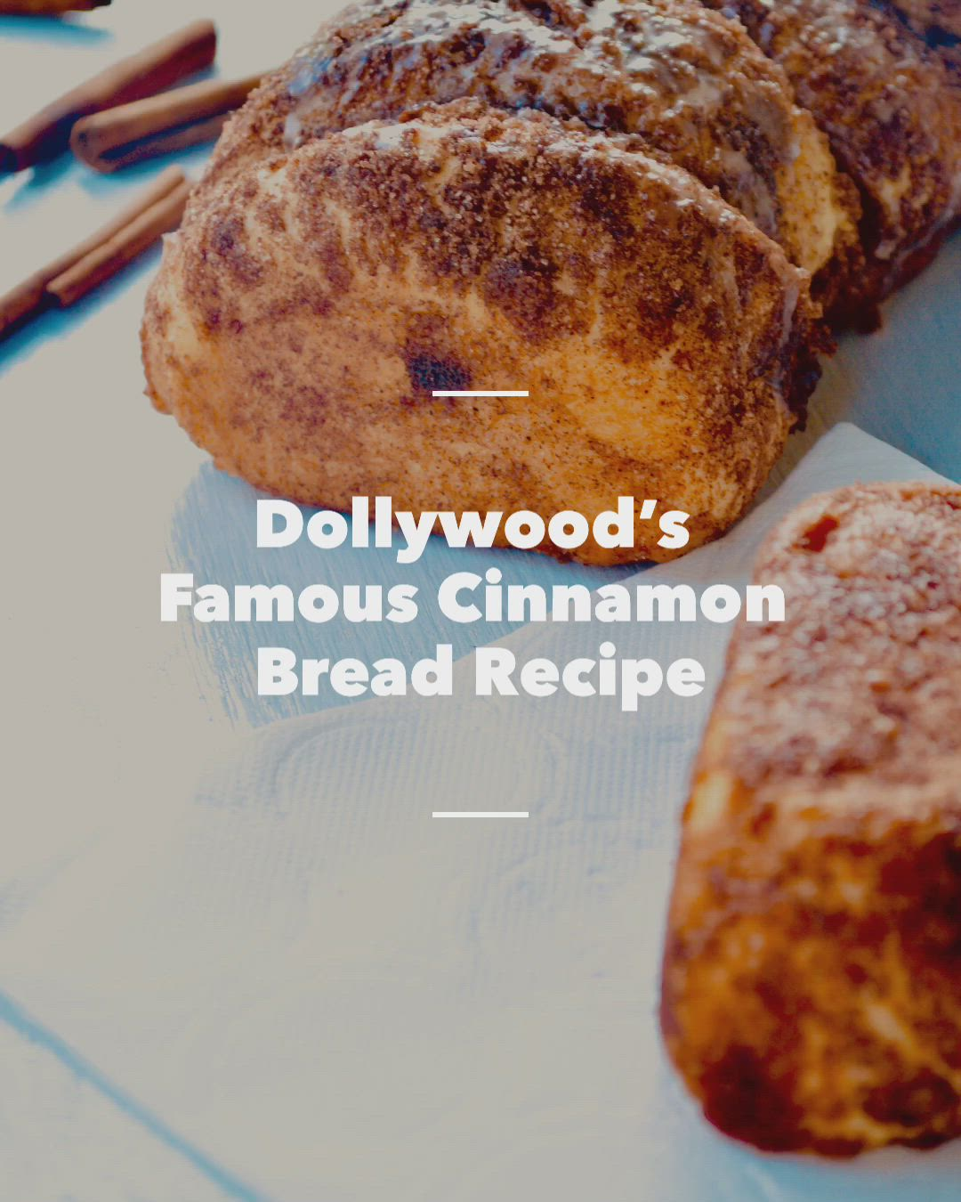 Dollywood S Famous Cinnamon Bread Recipe Cookbookies Video Recipe Video Cinnamon Bread Cinnamon Bread Recipe Recipes