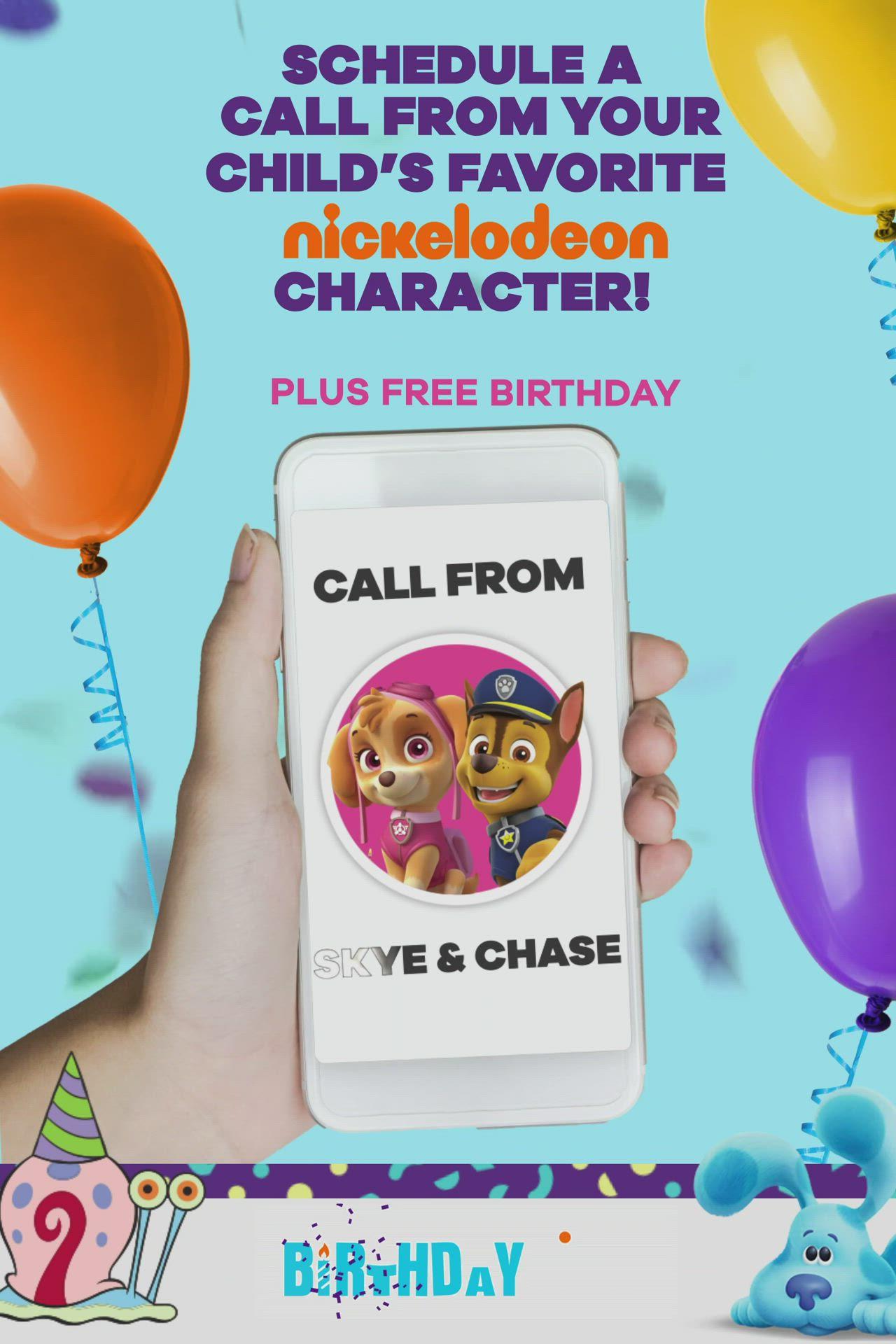 Happy Birthday Call From Spongebob : happy, birthday, spongebob, Personalized, Birthday, Phone, Child!, [Video], Birthday,, Puppy, Parties,, Party, Printables