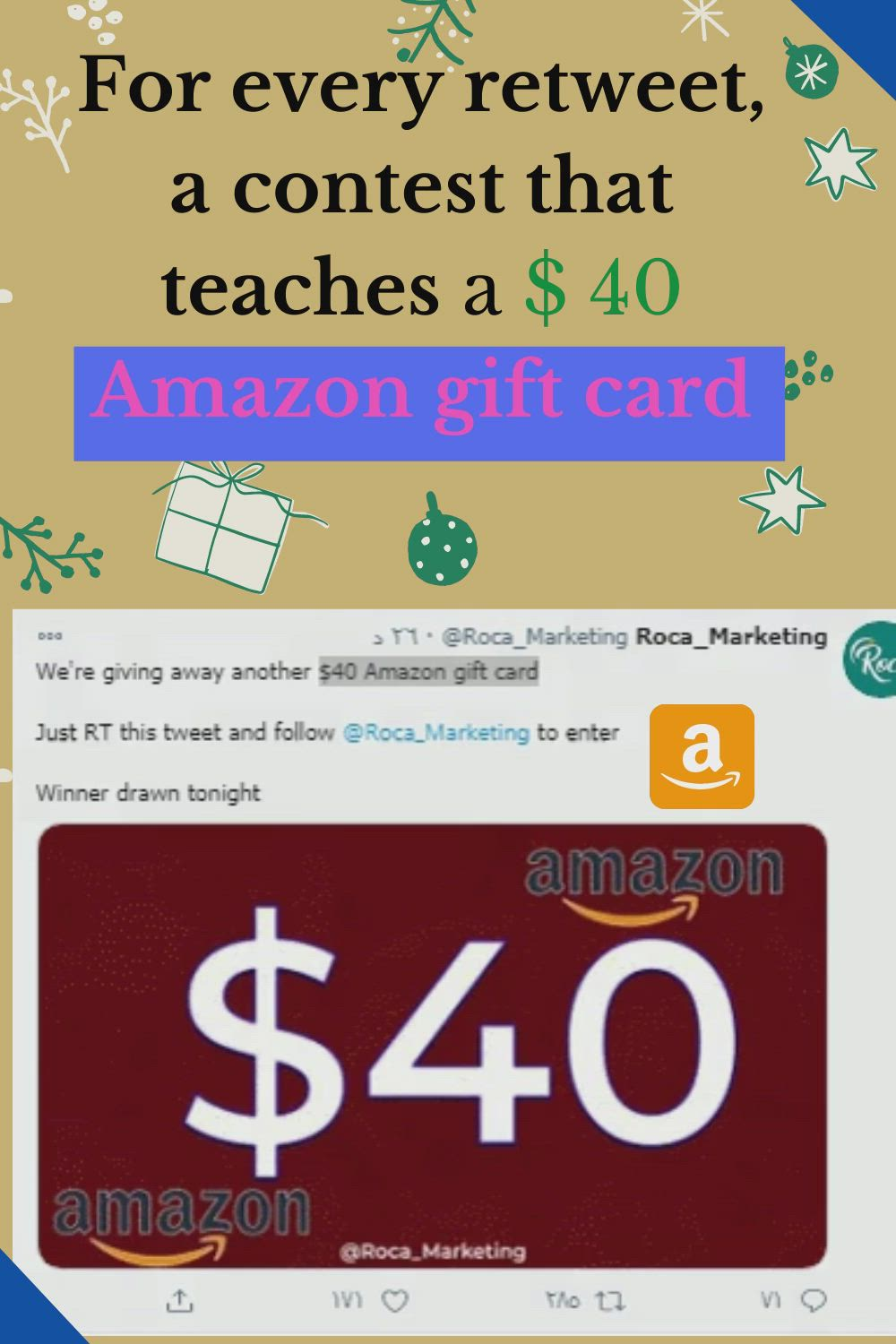 For Every Retweet A Contest That Teaches A 40 Amazon Gift Card Video Amazon Gift Cards Amazon Gifts Gift Card
