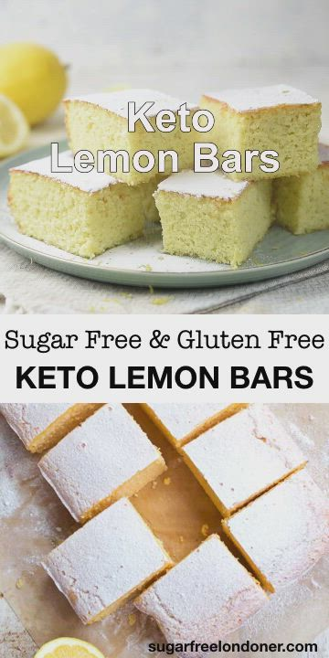 Keto Lemon Bars Video Sugar Free Desserts Sugar Free Lemon