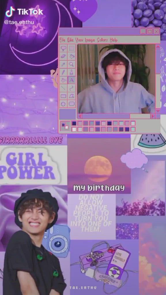 Taehyung Video Taehyung Bts Video Happy Birthday Me