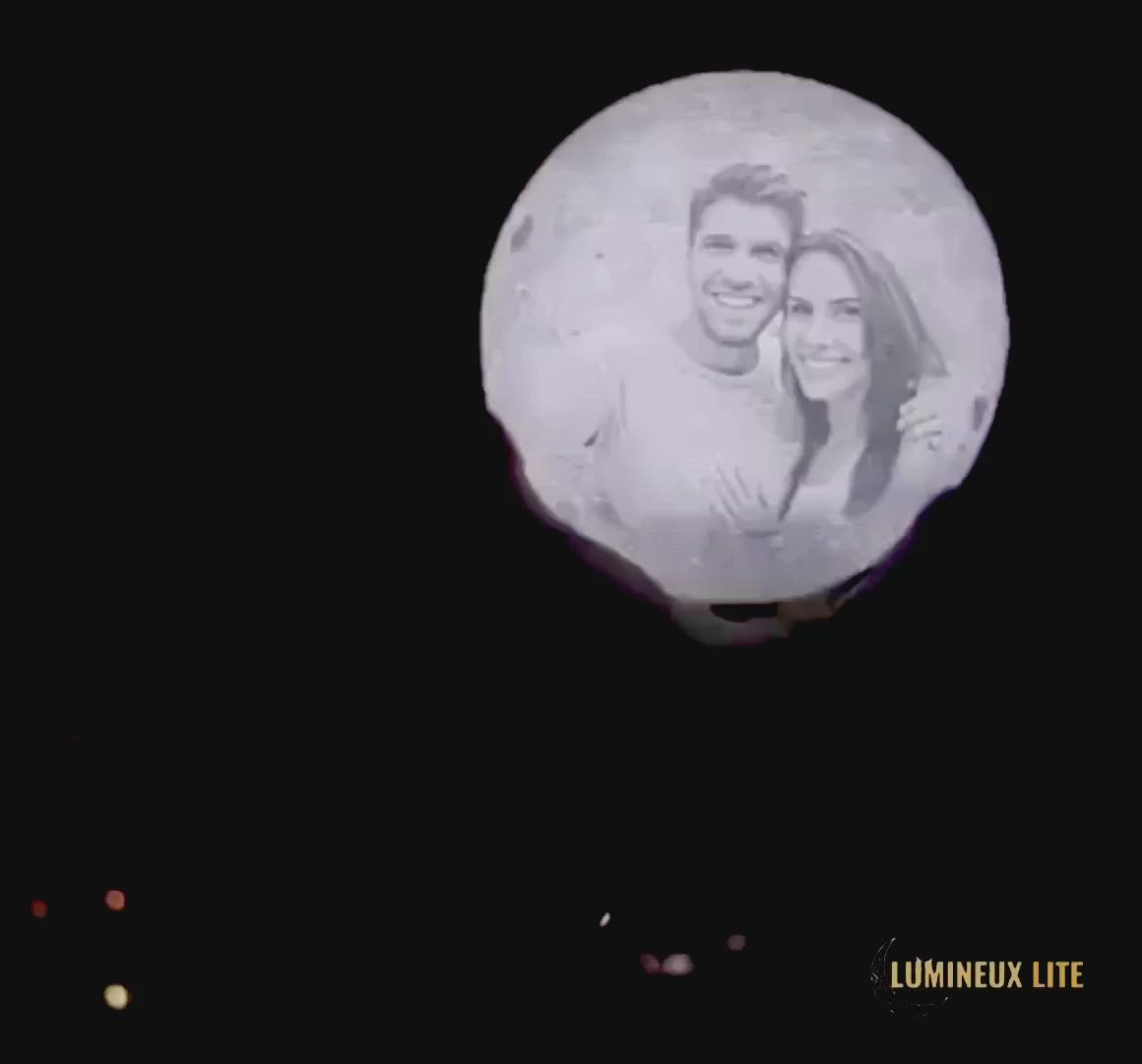 Personalized 3d Moon Lamp Video In 2020 Lamp Gifts Crafts