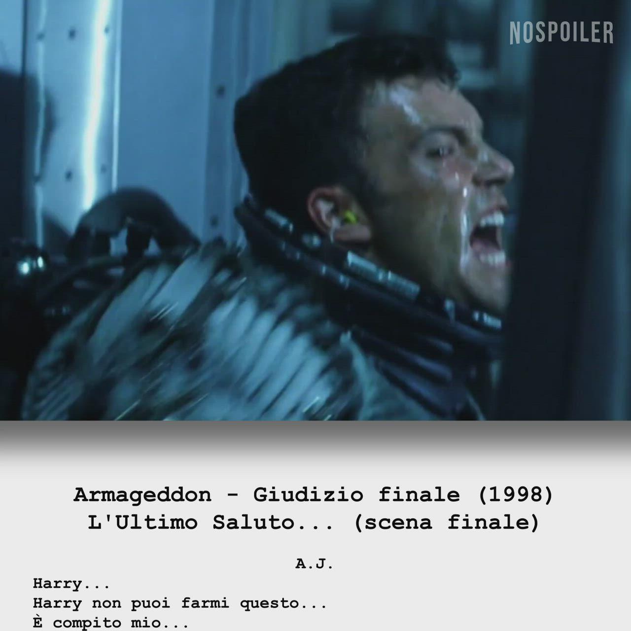 Armageddon Giudizio Finale L Ultimo Saluto Scena Finale Video Pioggia Di Meteoriti Ti Voglio Bene