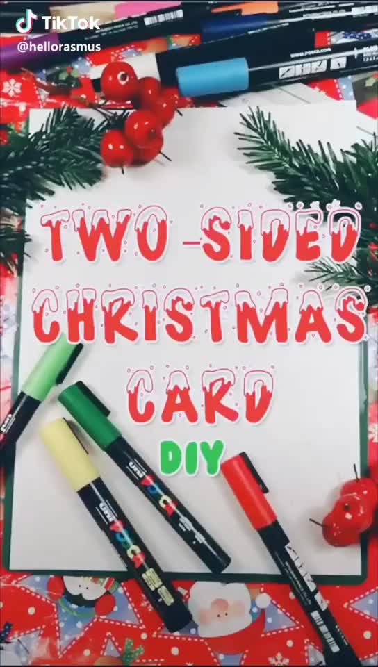 Tiktok Funny Short Videos Platform Diy Holiday Cards Diy Christmas Cards Animated Christmas Wallpaper