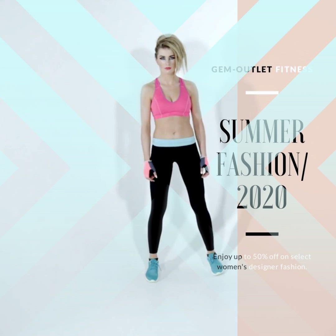 Gem Outlet S Designer Summer Fashion Sale Video Fitness Fashion Trends Fitness Fashion Active Wear For Women