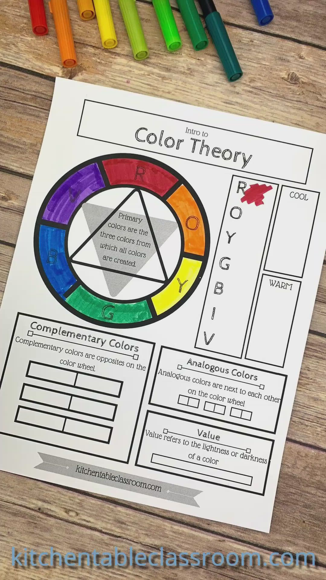 Printable Color Wheel An Intro To Color Theory For Kids Video