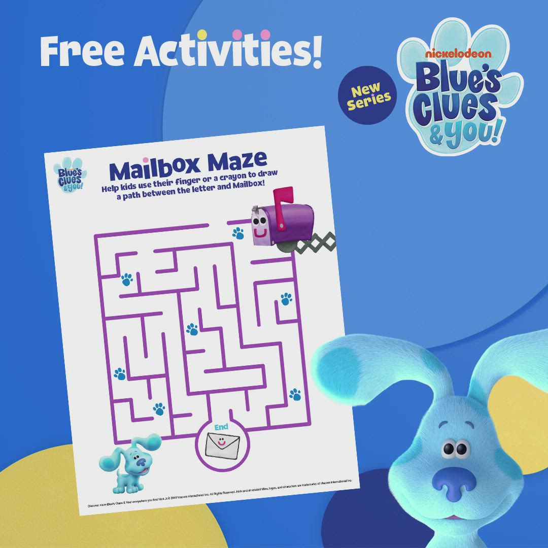 Blue S Clues You Printable Coloring Page Video Video Blues Clues Blue S Clues Fun Activities