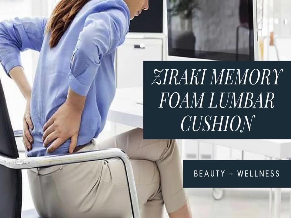 Ziraki Memory Foam Lumbar Cushion Premium Lumbar Support Pillow Lower Back Pain
