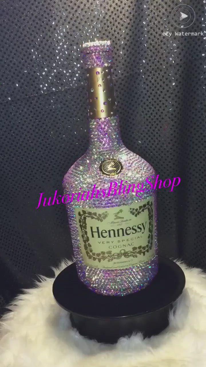 Bling Hennessy Bottle Video Alcohol Bottle Decorations Liquor Bottle Crafts Glitter Wine Bottles