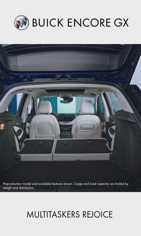 Customize Your Cargo Space With Buick Encore Gx Video Buick Encore Buick Small Suv