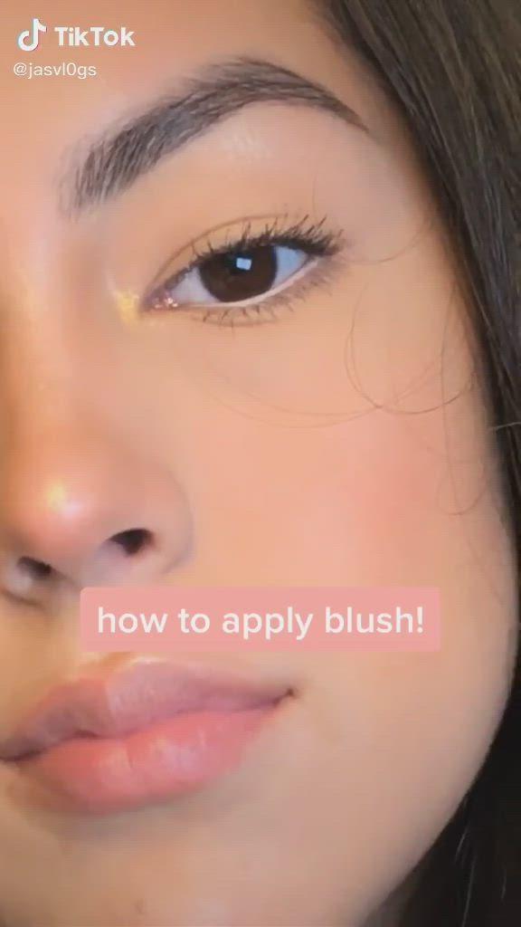 How To Apply Blush Tik Tok Video Eye Makeup Tutorial Makeup Tutorial How To Apply Blush
