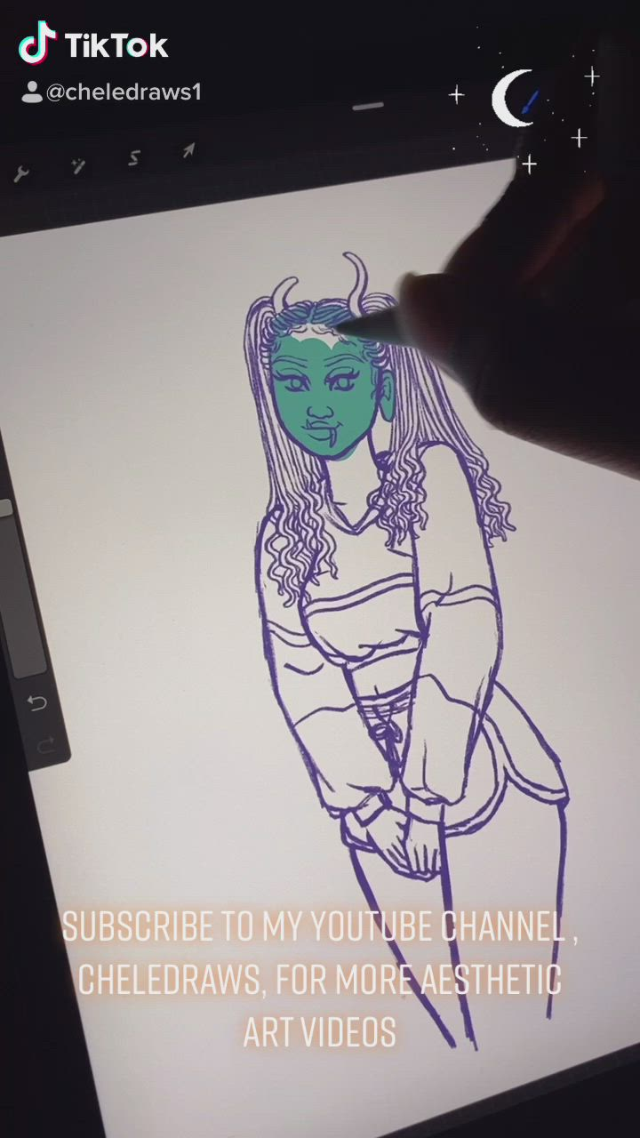 Drawinv My Monster Girl Video Digital Art Tutorial Digital Art Beginner Character Illustration