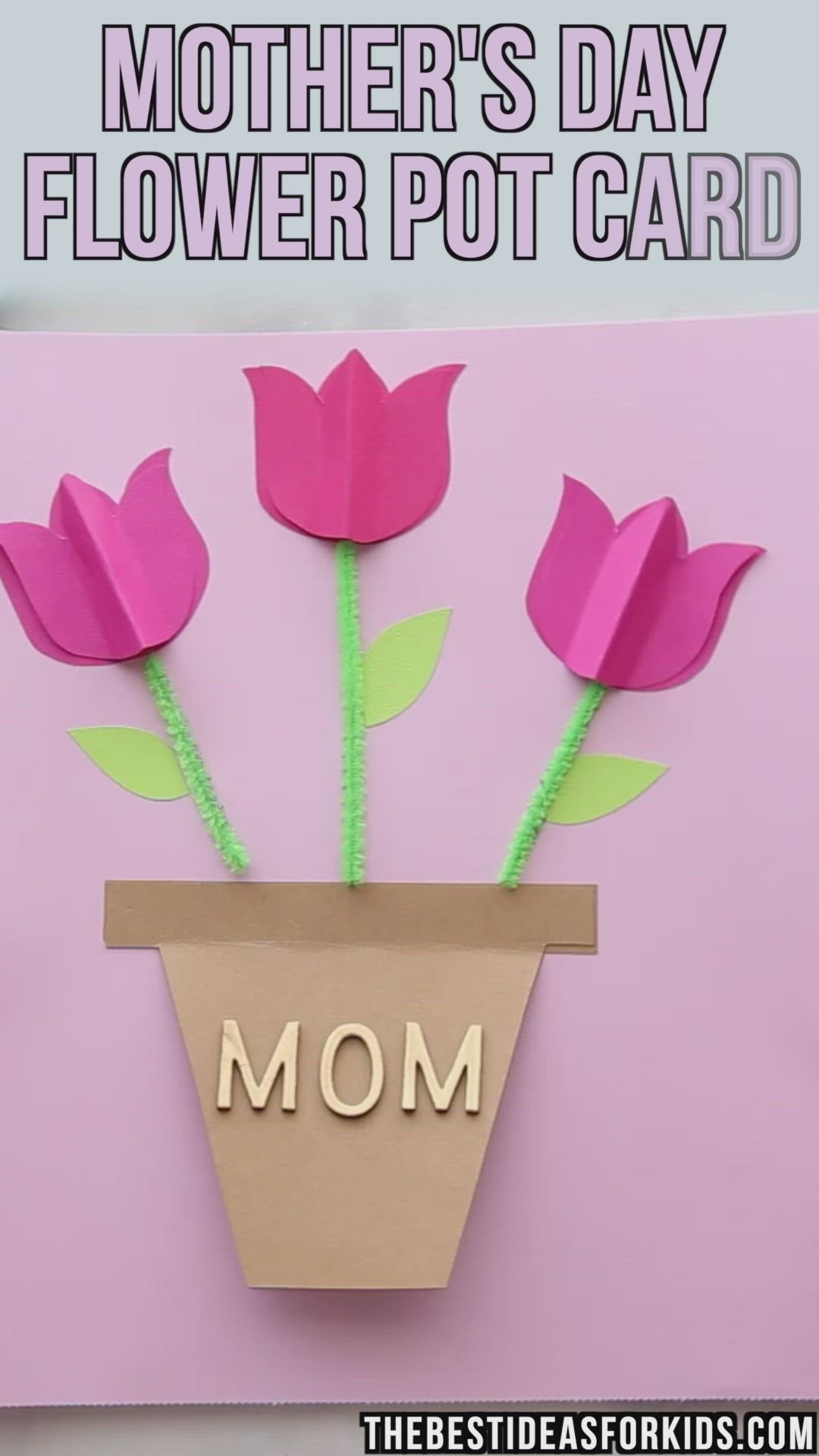 Mother S Day Card Craft The Best Ideas For Kids Video Video Mothers Day Crafts For Kids Easy Mother S Day Crafts Tulips Card