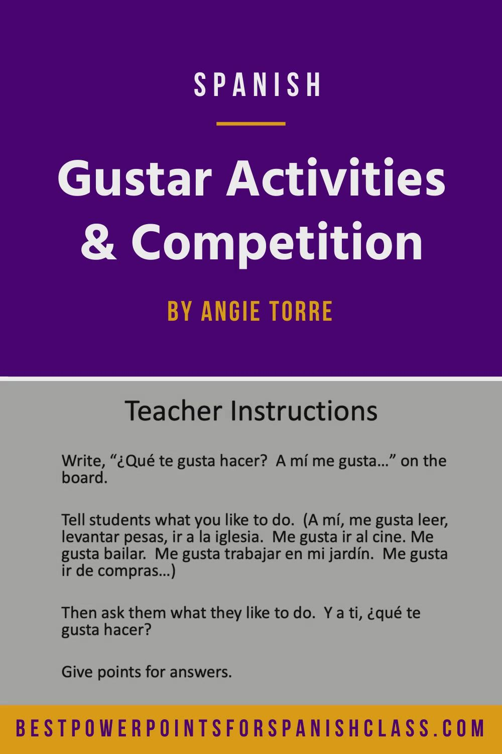 Spanish Gustar Practice Activities And Competition Distance Learning Video Distance Learning Instructional Resources Spanish Curriculum [ 1500 x 1000 Pixel ]