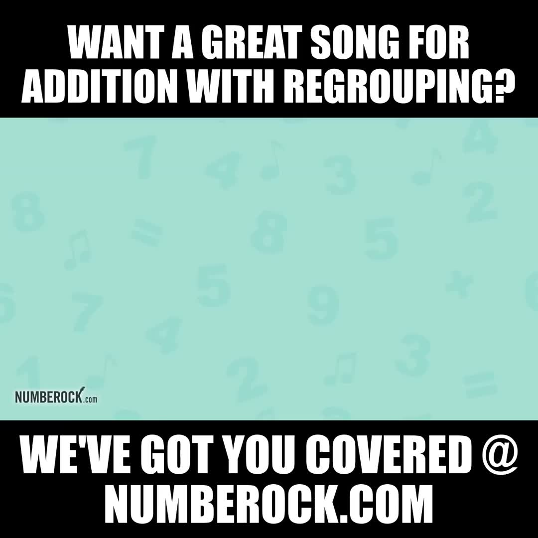 Addition With Regrouping Song 2 Digit Addition 2nd Grade Video Video Regrouping Math Videos Regrouping Addition Digit addition with regrouping song