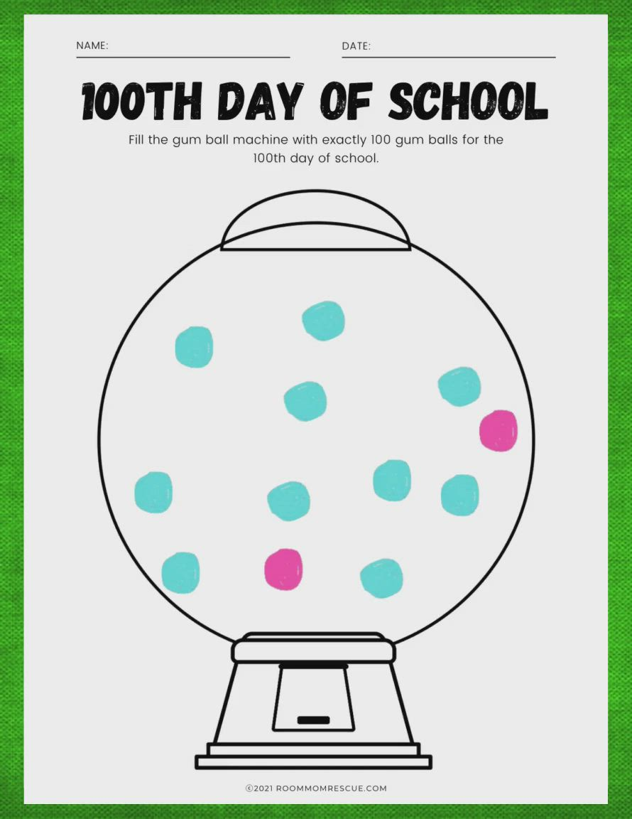 100th Day Of School Gumball Machine Video Video In 2021 Early Elementary Resources 100 Days Of School 100 Days Of School Project Kindergartens