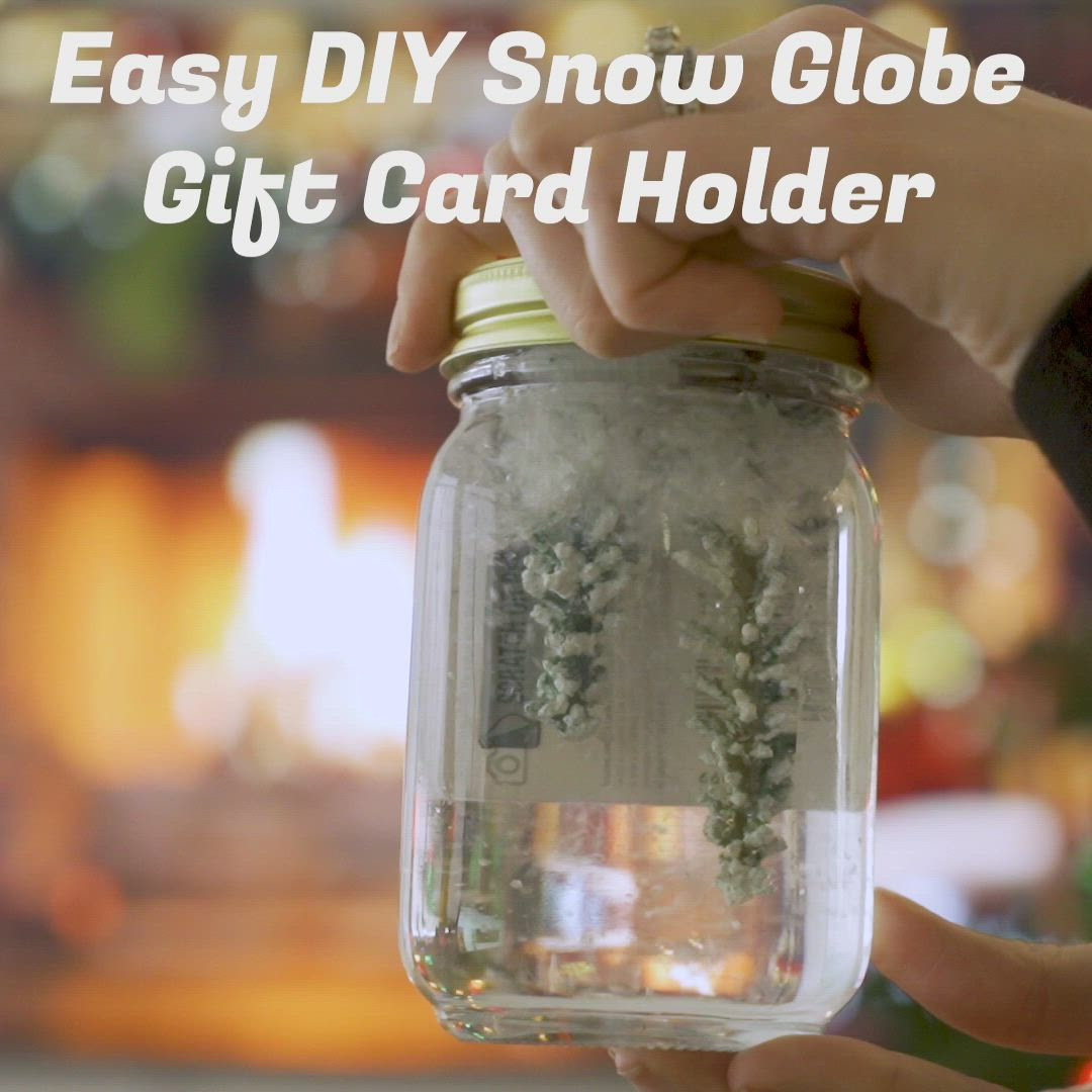 Make A Gift Card The Best Present With These Diy Wrapping Tips Video Video Globe Gift Diy Snow Globe Gift Card Holder Diy