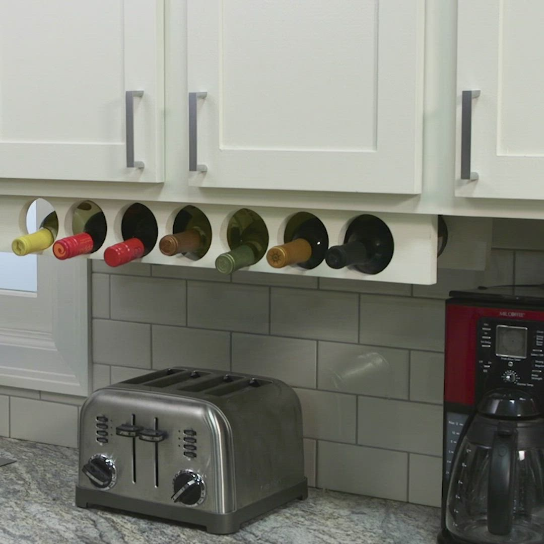 Space Saving Kitchen Cabinet Wine Rack Project Video Video Kitchen Cabinet Wine Rack Kitchen Renovation Space Saving Kitchen