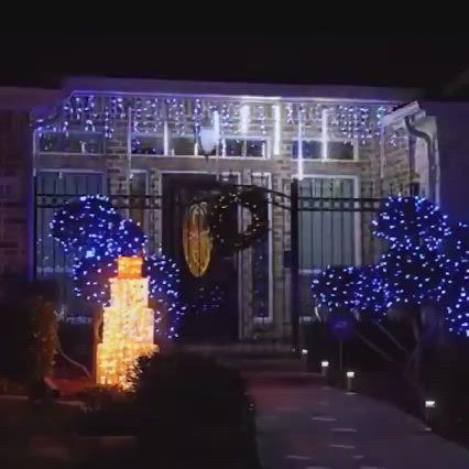 Snowfall Led Christmas Lights Christmas Decoration Ideas Video Christmas Lights Decorating With Christmas Lights Fun Christmas Decorations