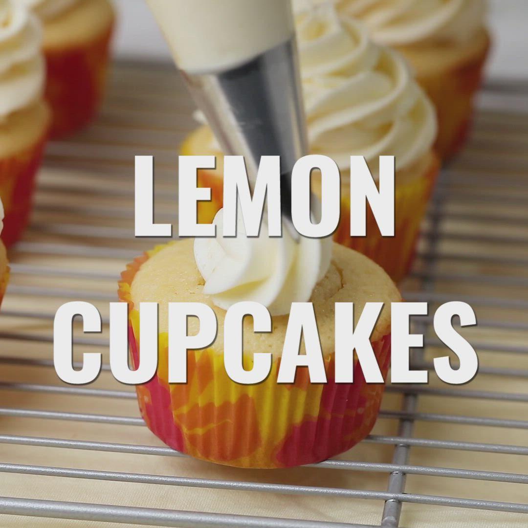 Lemon Cupcakes Video Recipe Lemon Filled Cupcakes Lemon