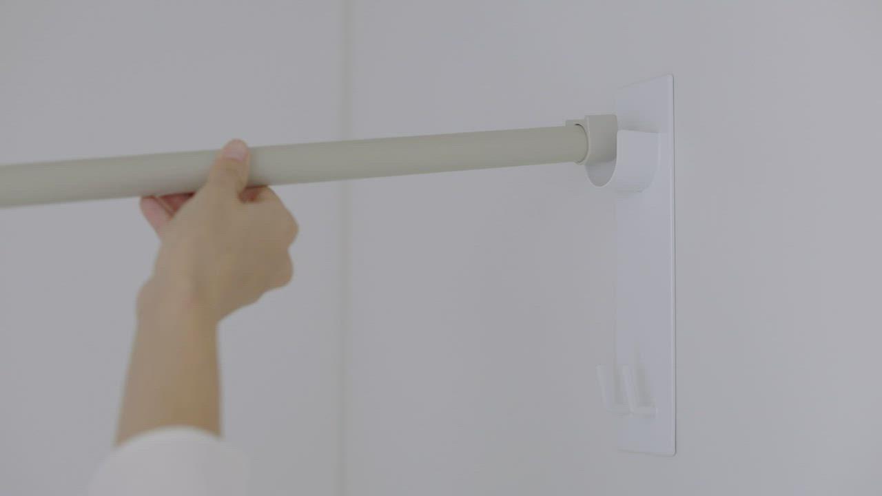 マグネットバスルーム物干し竿ホルダー2個組 タワー 動画 動画