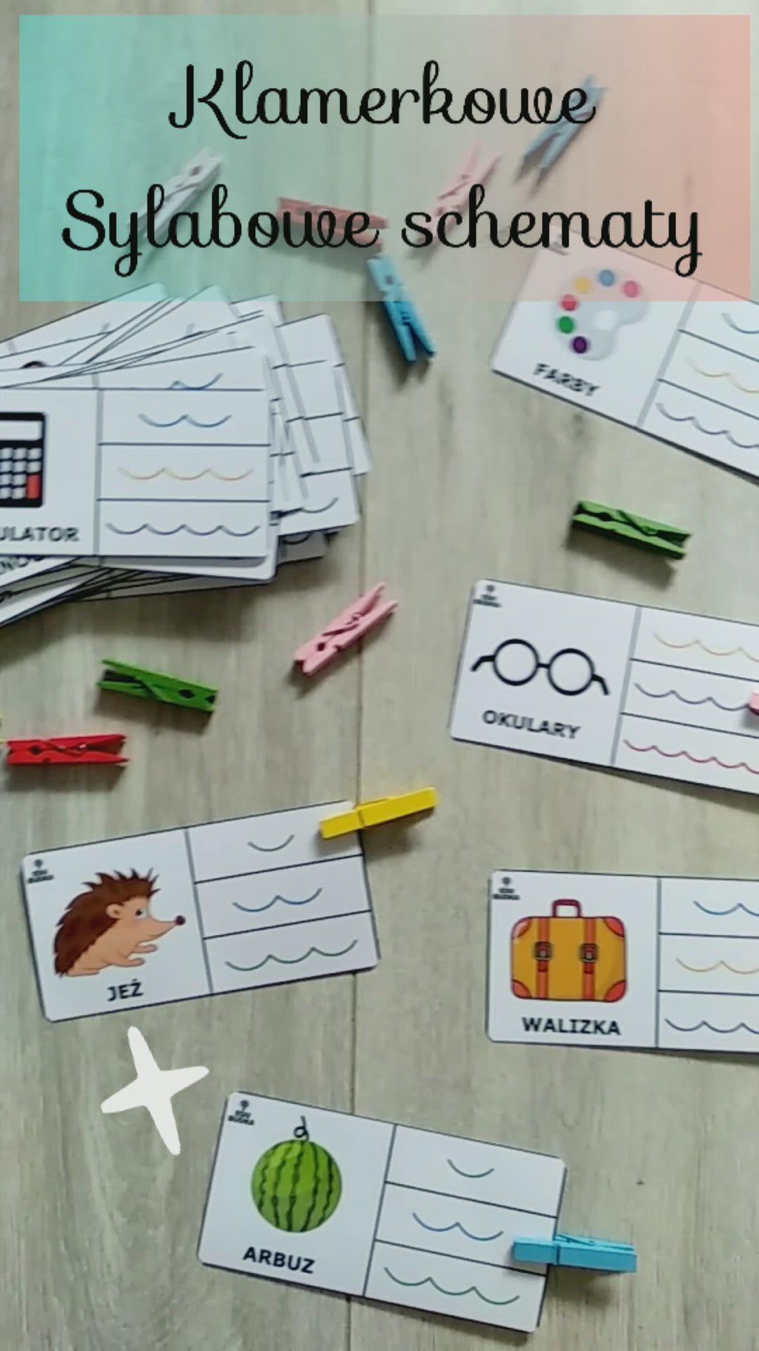 Klamerkowe Sylabowe Schematy 60 Kart 15 Klamerek In 2020 Classroom Activities Activities Classroom