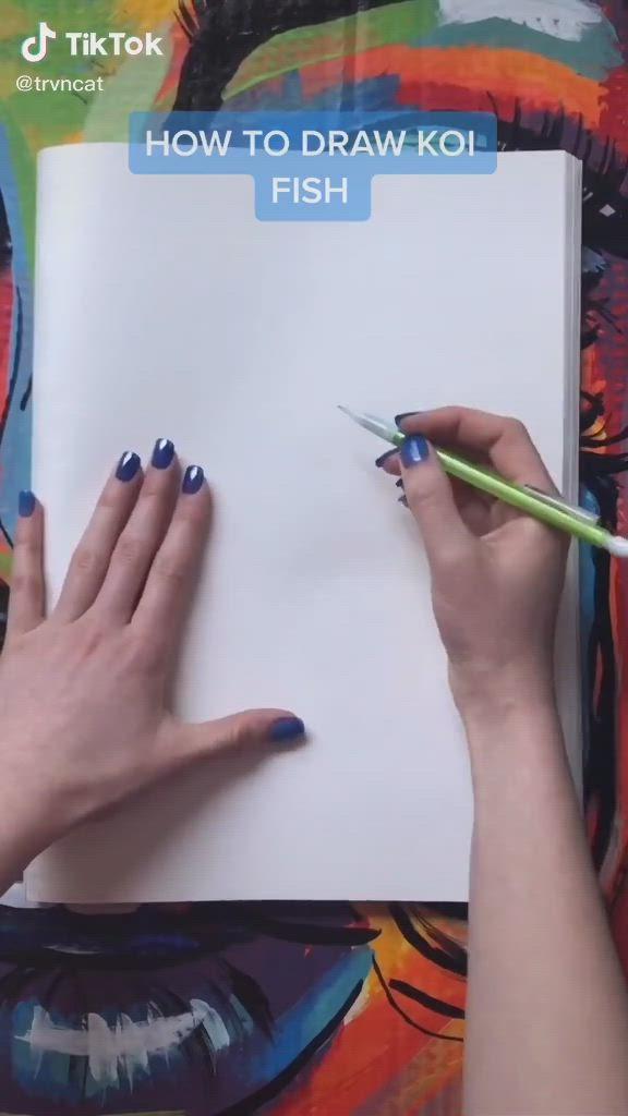 How To Draw Koi Fish By Trvncat On Tiktok Video Koi Fish Drawing Koi Art Fish Drawings