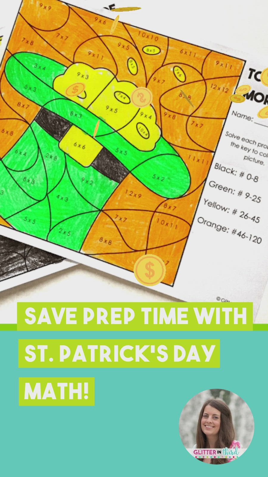 St Patrick S Day Math Worksheets For Multiplication Video In 2021 Fourth Grade Resources Multiplication And Division Practice Third Grade Resources [ 1600 x 900 Pixel ]