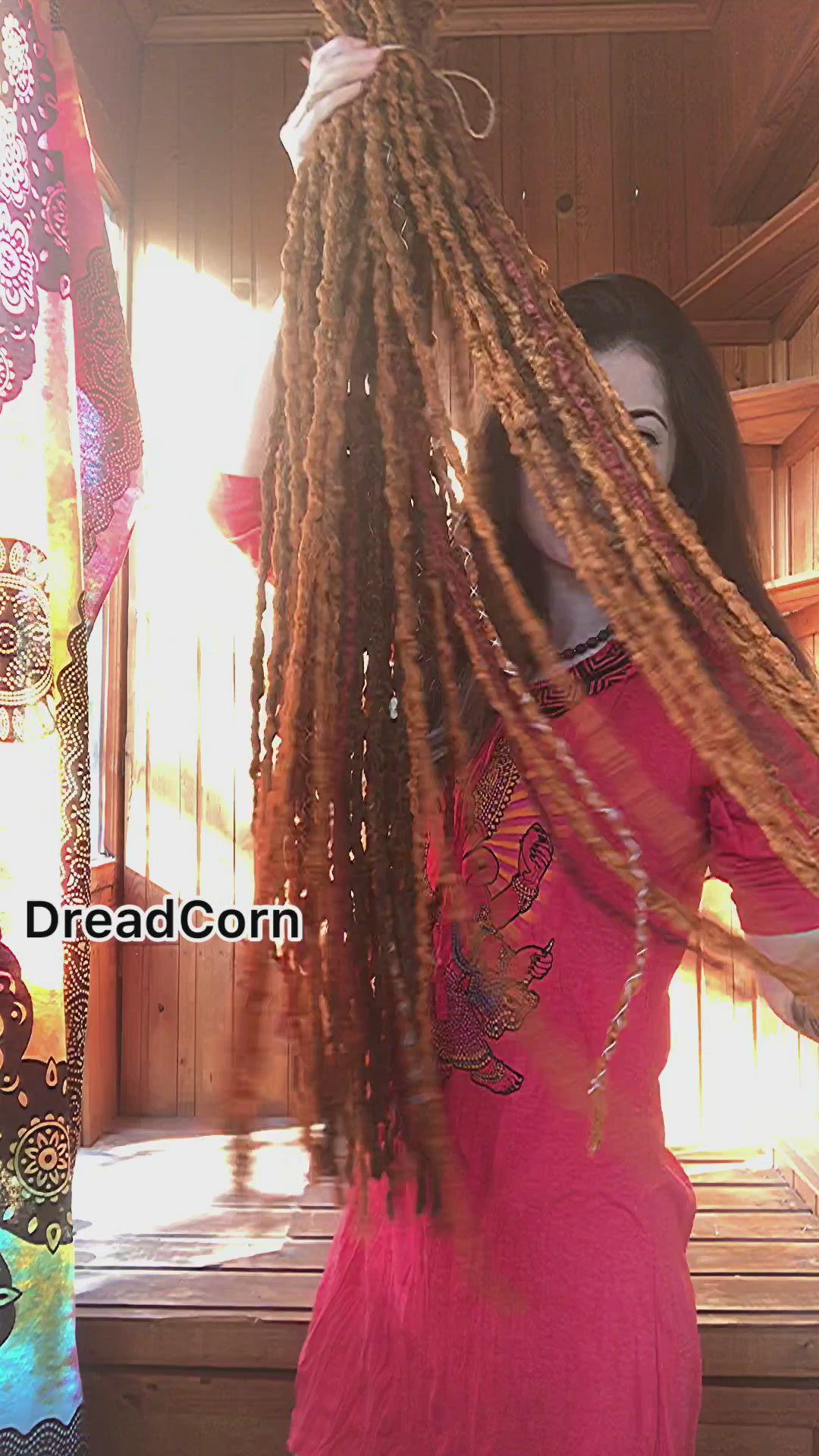Ginger Synthetic Crochet Dreads Double Ended Or Single Ended Etsy Video Video In 2020 Crochet Dreads Fake Dreadlocks Kanekalon Synthetic Hair