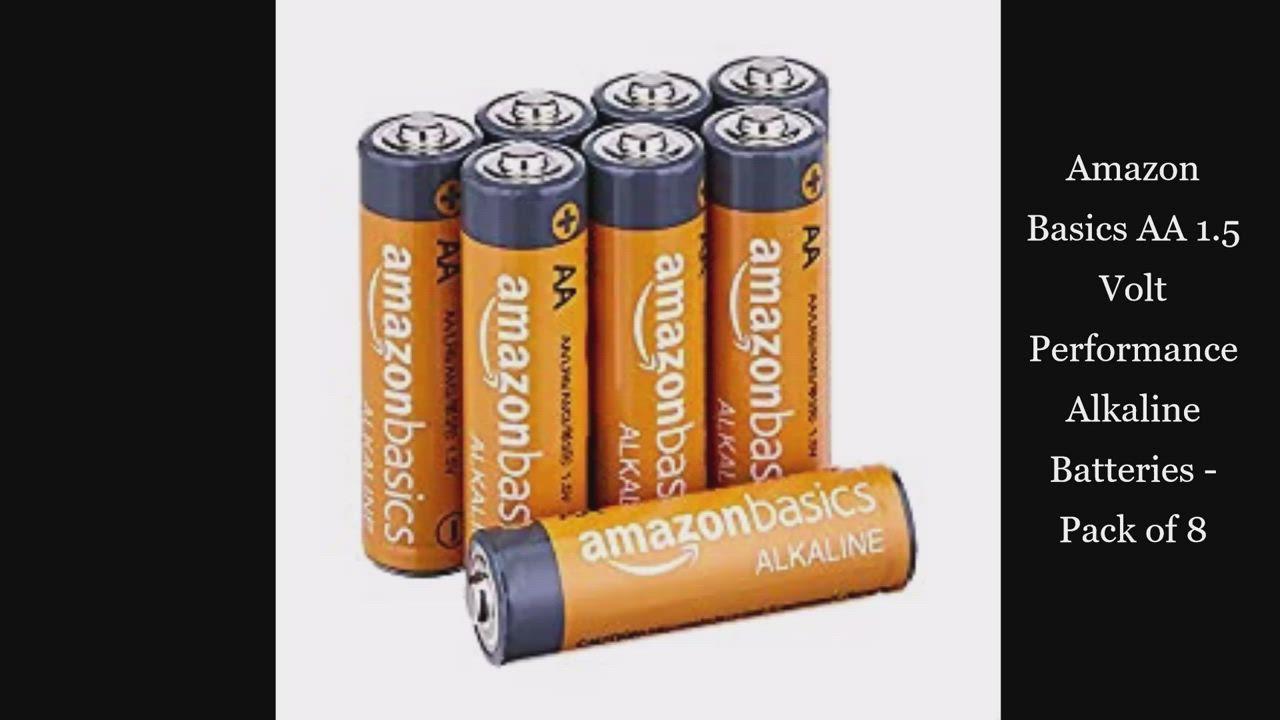 Amazon Basics Aa 1 5 Volt Performance Alkaline Batteries Pack Of 8 Video In 2021 Battery Pack Alkaline Battery Home Improvement