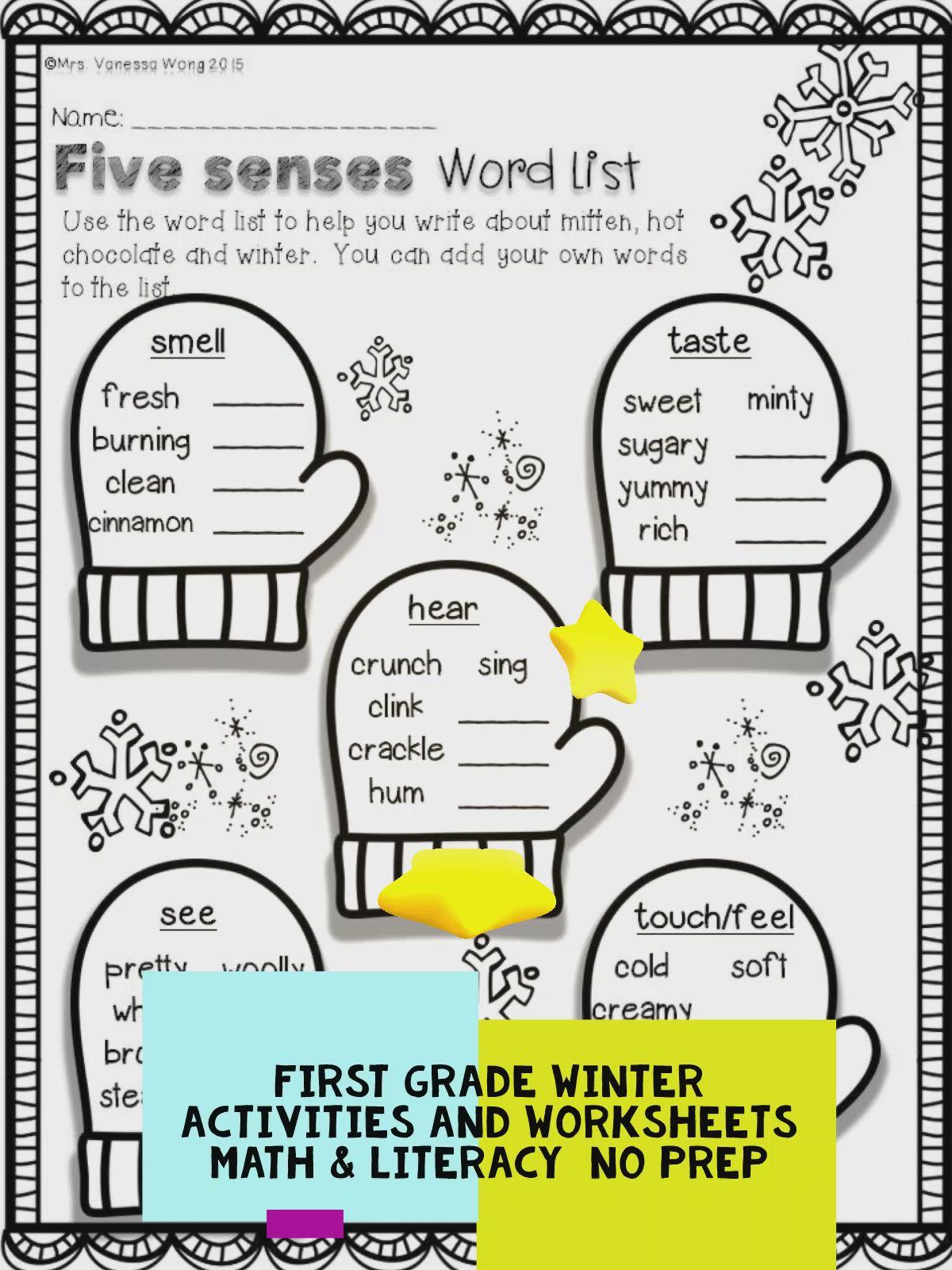 Winter Math And Literacy No Prep Printables First Grade Video Video Math Literacy Winter Math First Grade Activities [ 1600 x 1200 Pixel ]