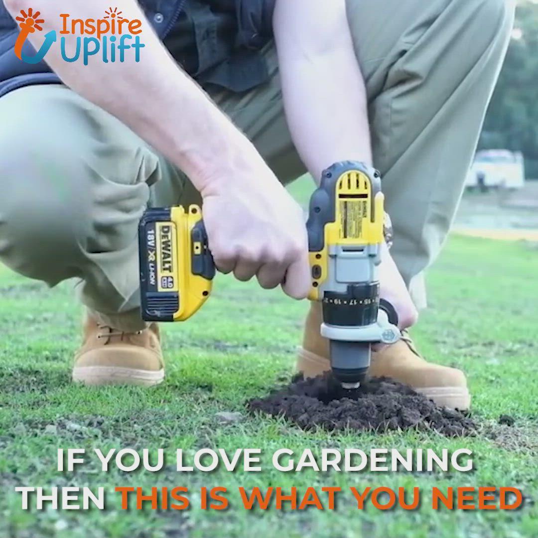 Garden Spiral Hole Drill Planter Video Video Garden Tools