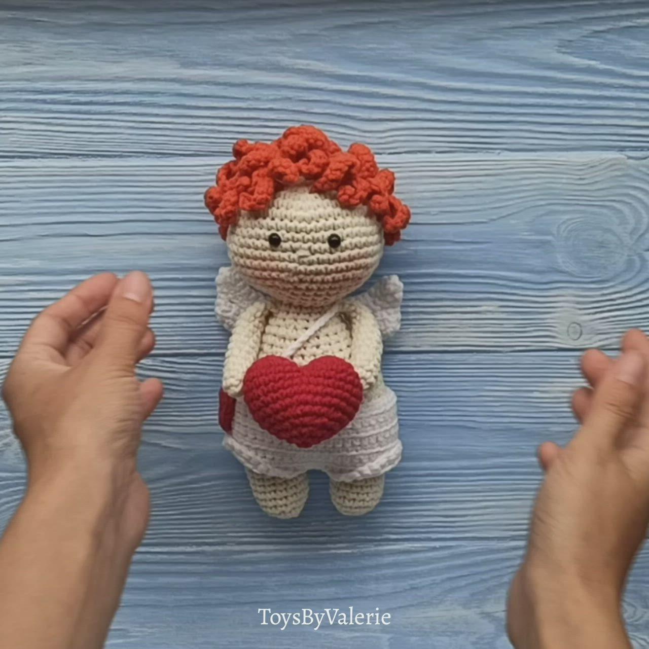 Pattern Love Angel Amigurumi Crochet Pattern Handmade Gift For Etsy Video Video In 2020 Crochet Amigurumi Knitting Patterns Toys Crochet Toys Patterns