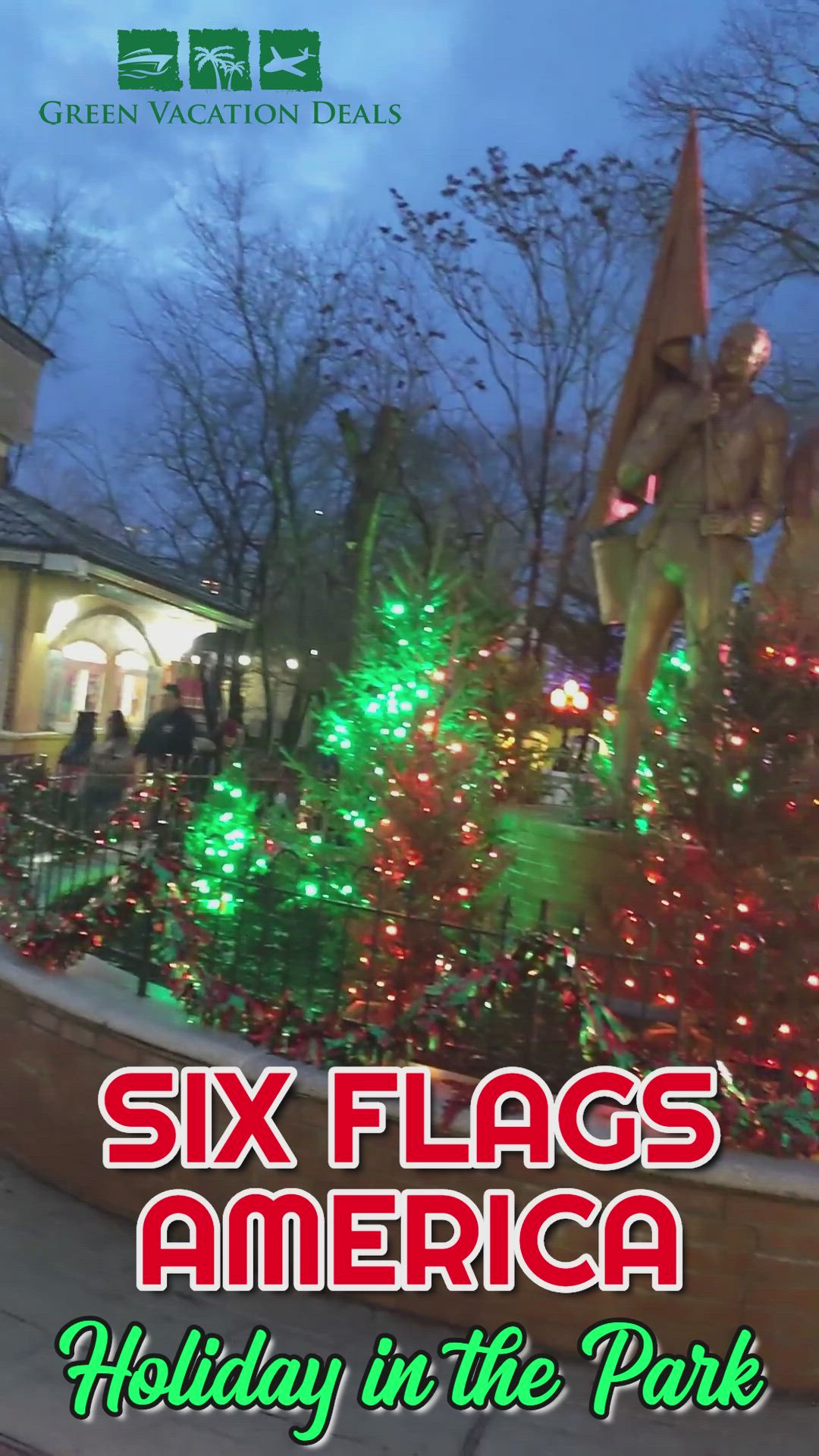 Six Flags America Christmas 2019 Holiday In The Park Video Green Vacation Deals Video Video Holiday Christmas Vacation Destinations Christmas Travel Destinations