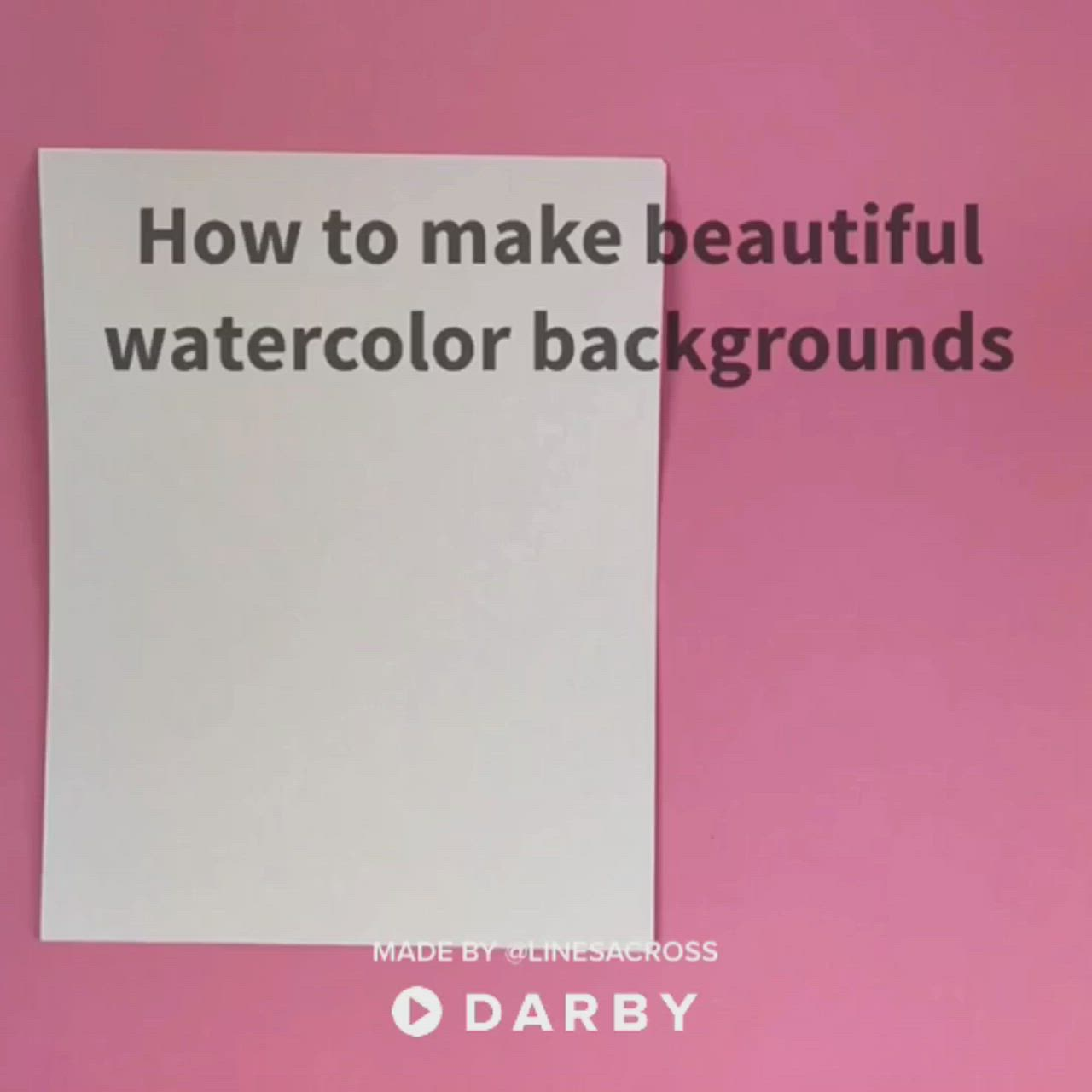 How To Make Watercolor Backgrounds With This Easy Hack Darbysmart