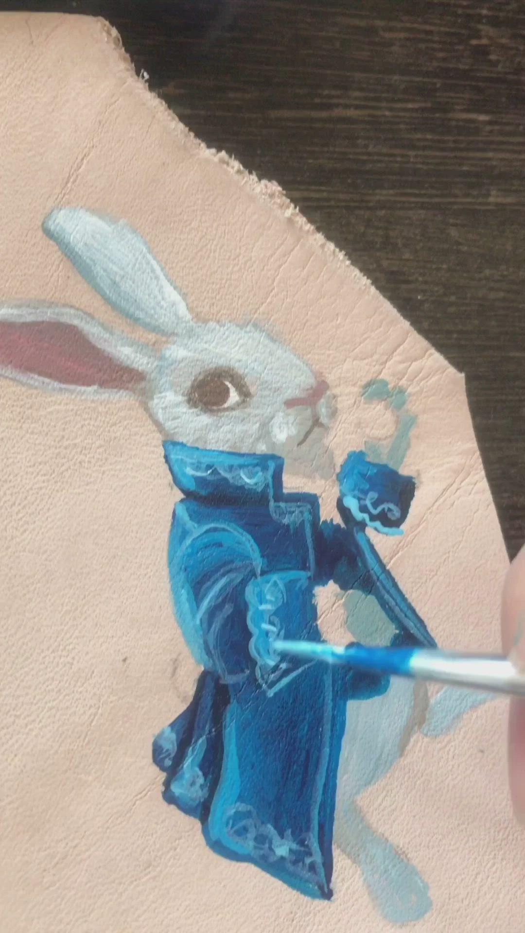 Tea Party Pin Birthday Gift White Rabbit Brooch Mad TEa Party Rabbit pin Bridal Shower Stocking Stuffer Alice in Wonderland pin