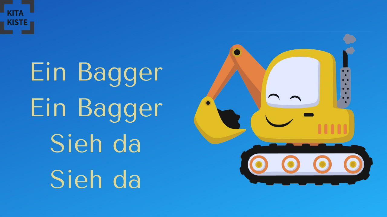 Ein Bagger Krippenlied 3 Akk Video Kindergarten Lieder Kinder Lied Kinder Lernen