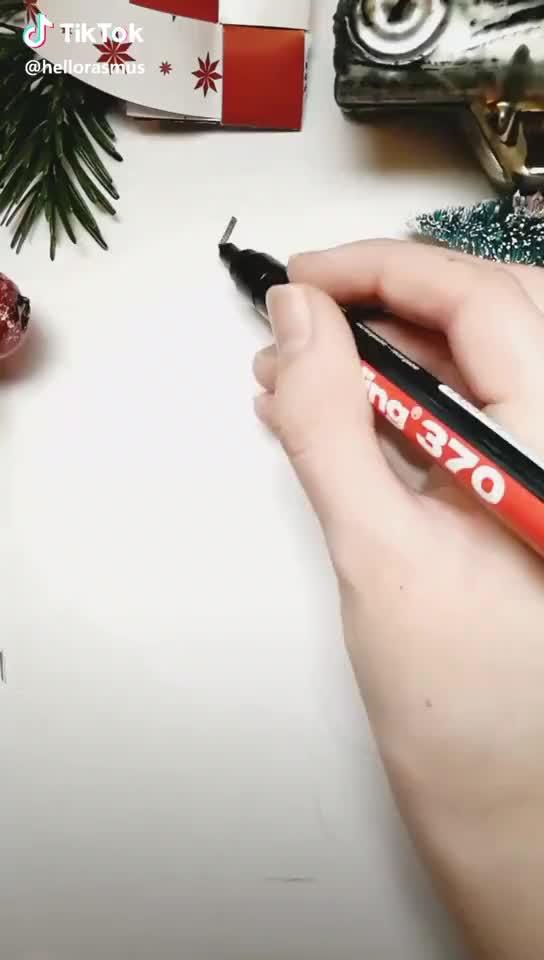 Tiktok Funny Short Videos Platform Christmas Tree Drawing Christmas Tree Painting Tree Drawing