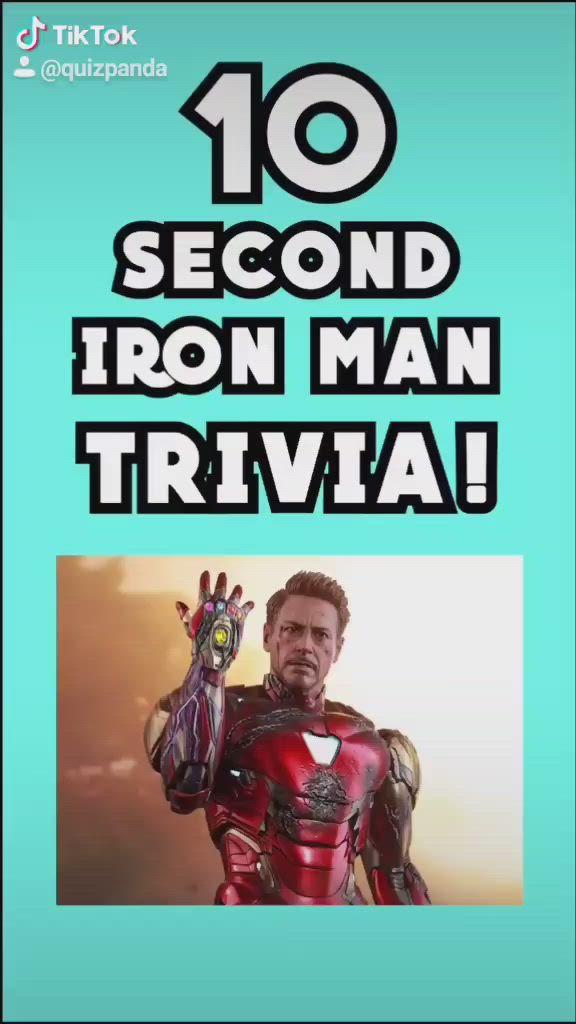 Video Iron Man Trivia On Tiktok Quiz Panda