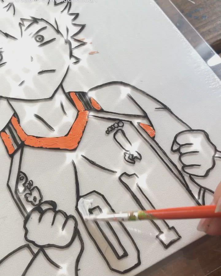 Pin On Anime Glass Art