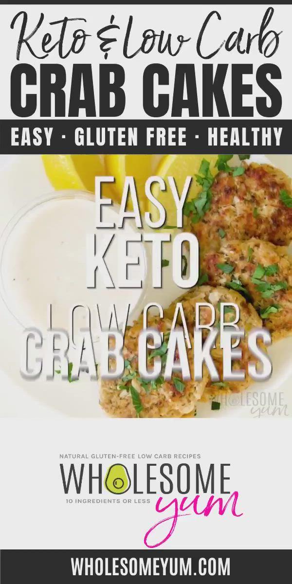 Gluten Free Keto Crab Cakes Recipe Video Low Carb Recipes Dinner Recipes Keto Recipes