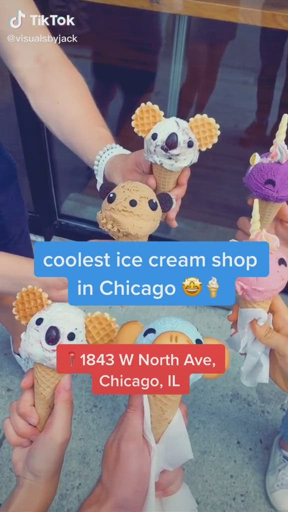 Chicago Cute Icecream Place Tik Tok Video Fun Places To Go Travel Fun Crazy Things To Do With Friends