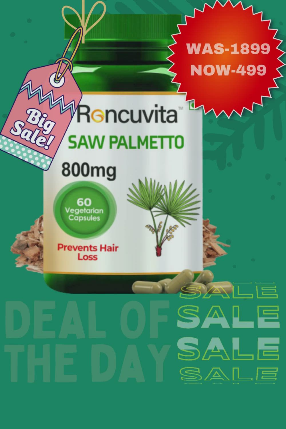 Saw palmetto, Deal of the day on Amazon [Video] in 2021 | Hair, Grow hair,  Skin care